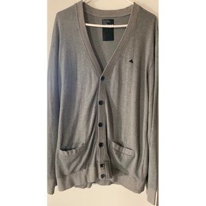 Men's burton grey cardigan XL